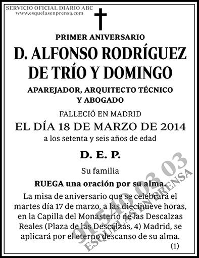 Alfonso Rodríguez de Trío y Domingo